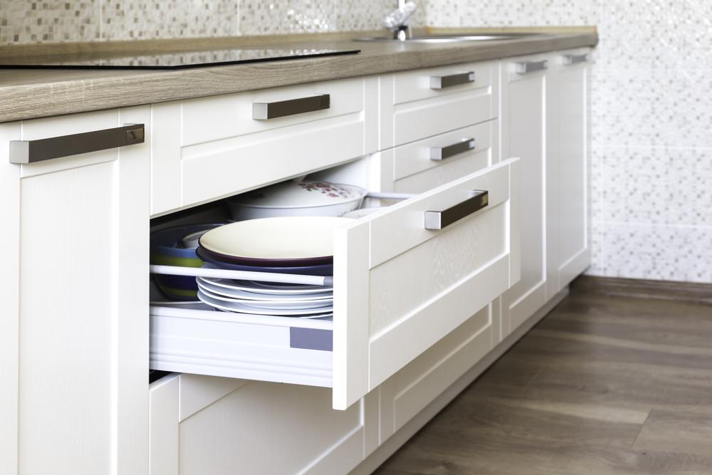 White Cabinet installation