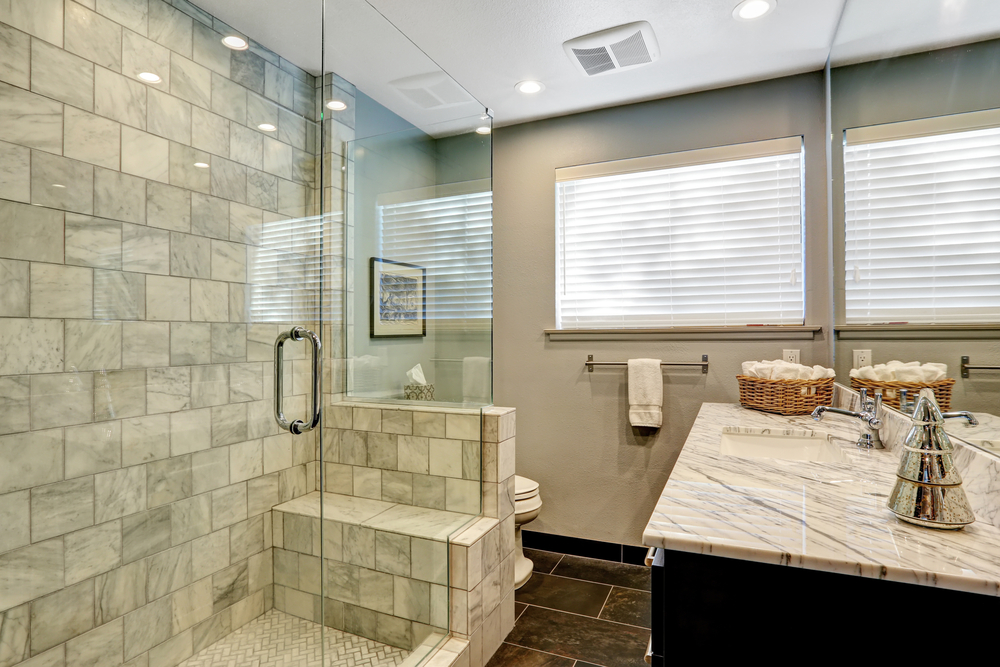 Shower Installation with custom tiles and new vanity
