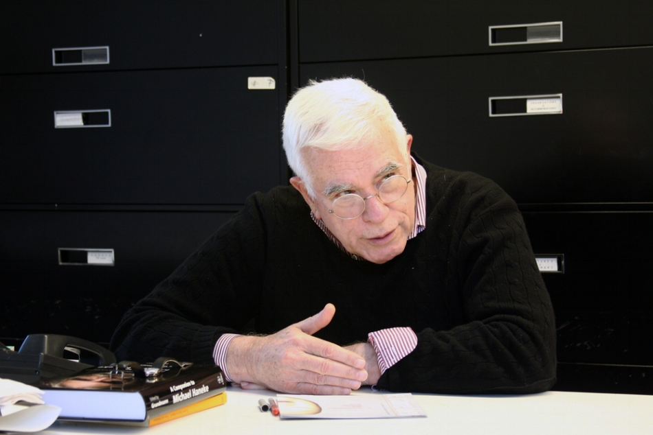 Figure 3:  Peter Eisenman, Charles Gwathmey Professor of Practice, Yale University School of Architecture.