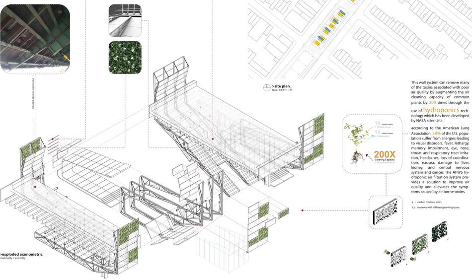 Under/Overpass Axonometric + Details