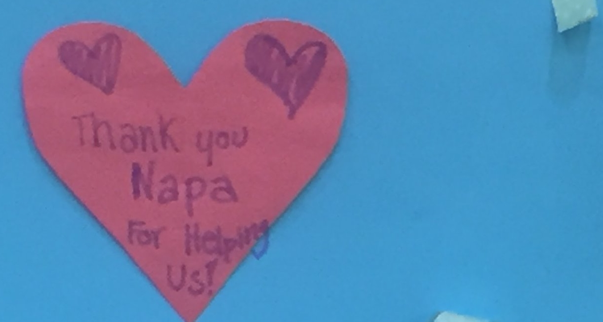 Response Phaseby the Numbers - Children served at Napa Valley College Shelter: 600Staff hours for disaster response: 580Volunteer hours: 600