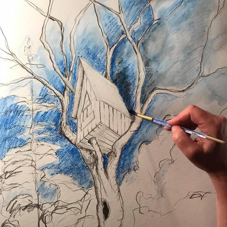 Birdhouse Watercolors -