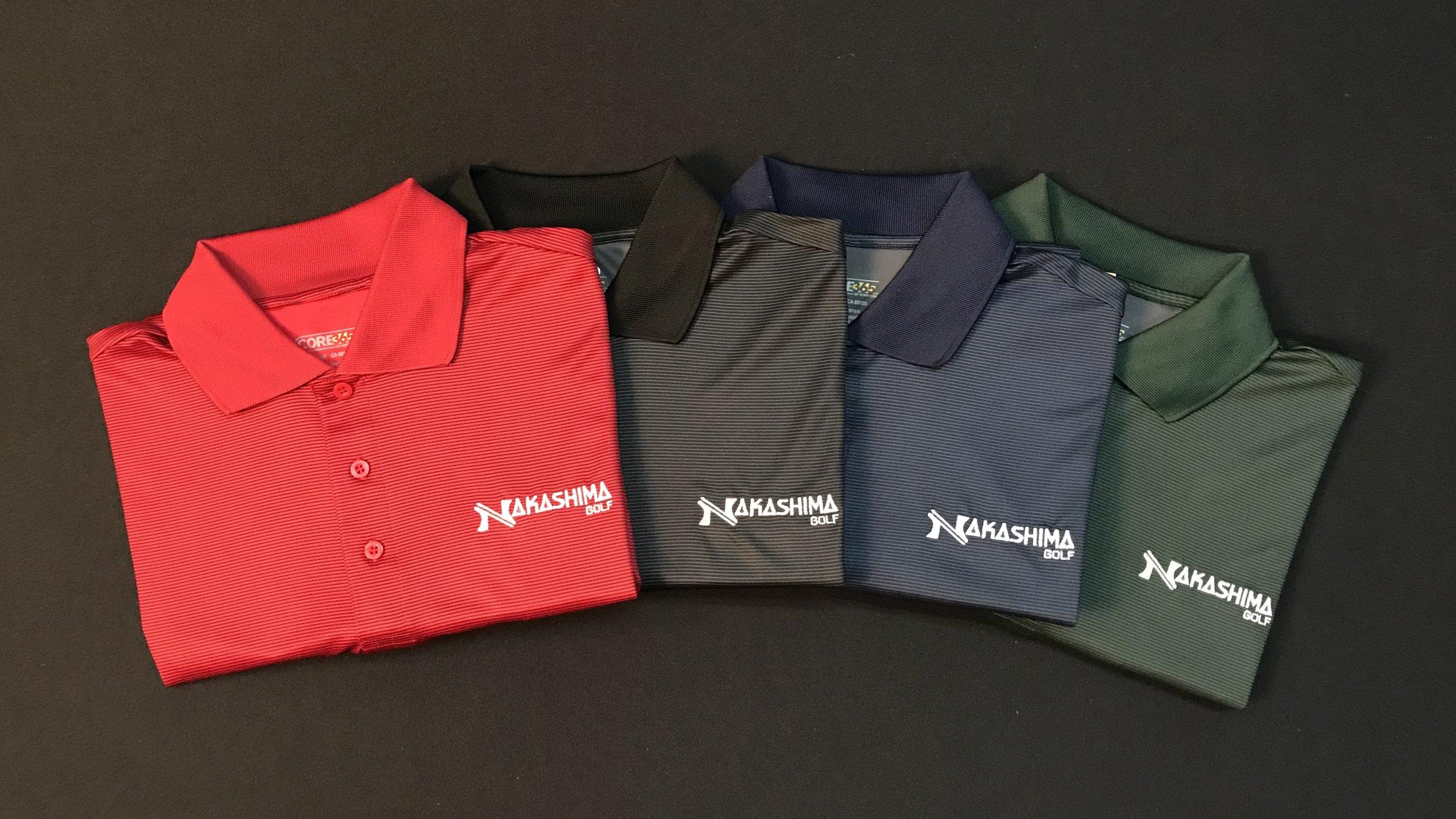 Nakashima Golf MicroStripe PolyTec Polos (Moisture Wicking)