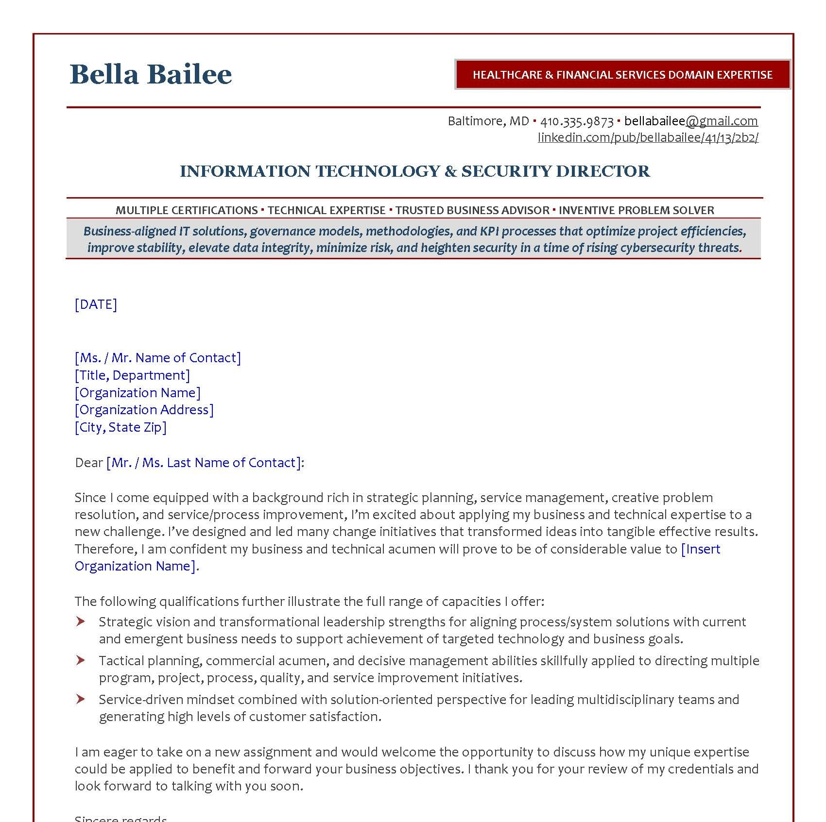 Linkedin Cover Letter   Fees Bonnie Career Services Inc Certified Resume