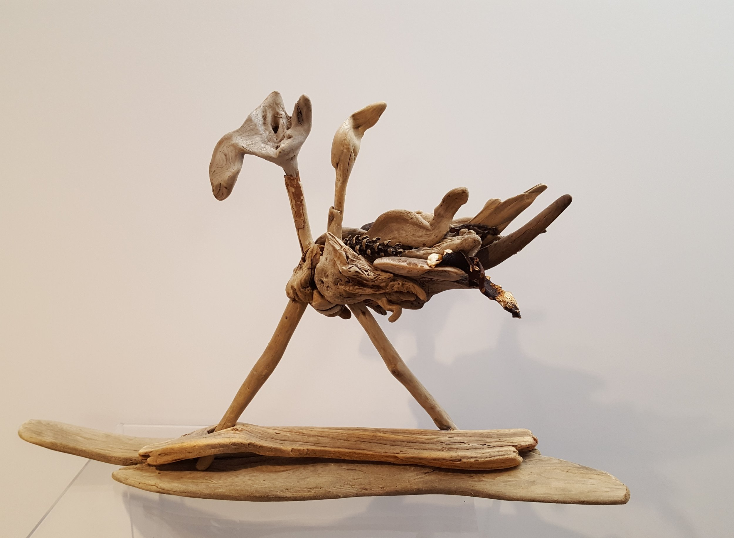"""River Jester"", Mixed Media Driftwood Sculpture by Karrie Baas"