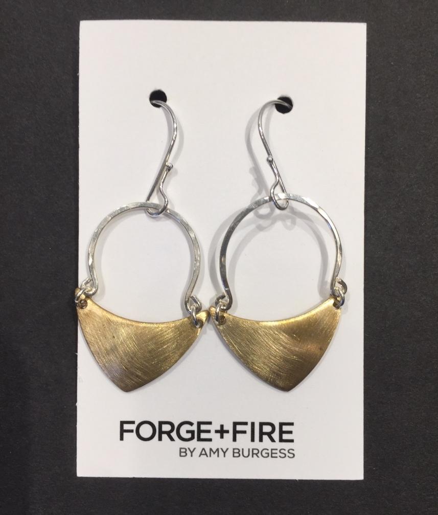 Brushed Brass Earrings