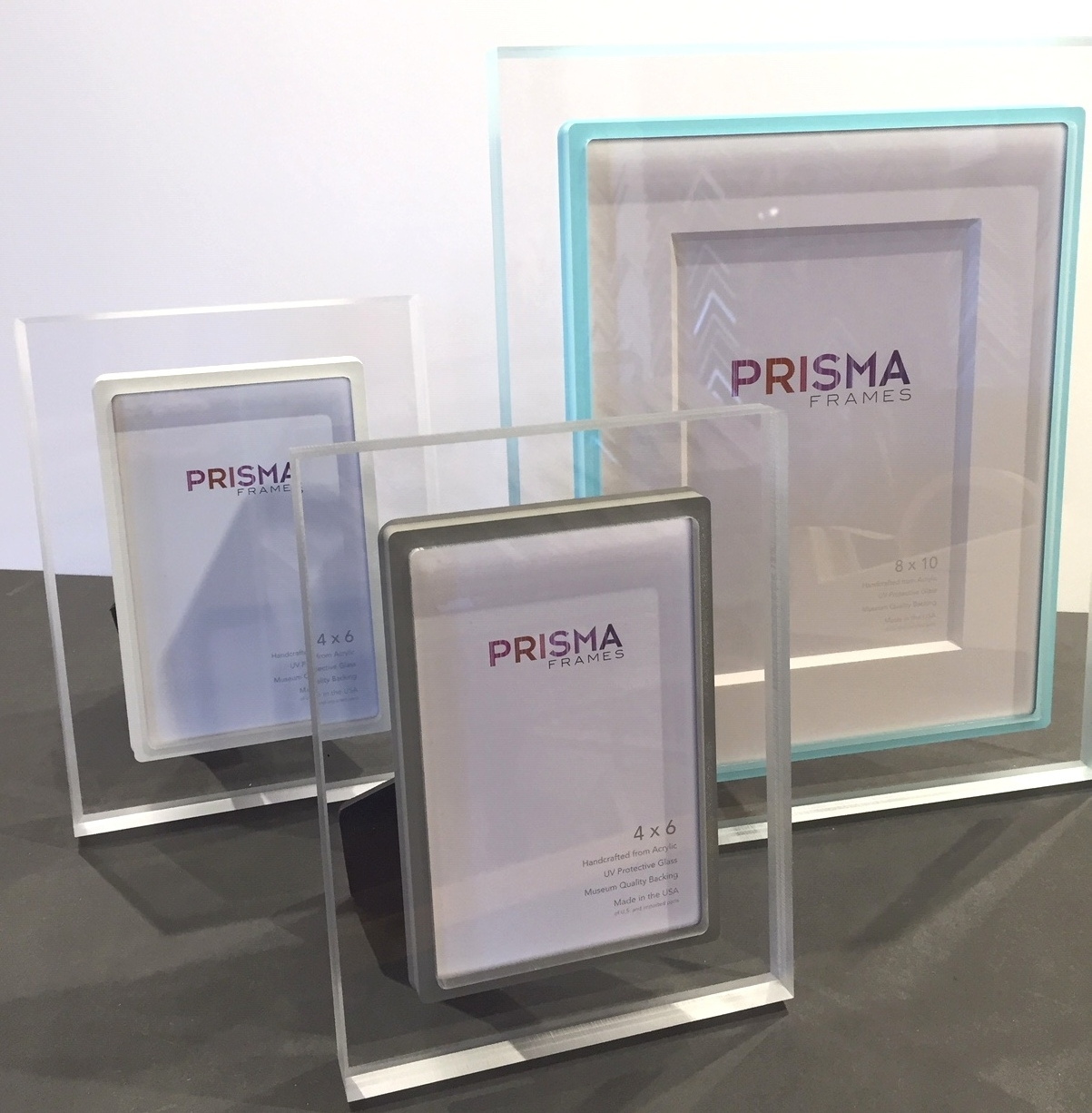 Prisma Acrylic Frames with Color Edge
