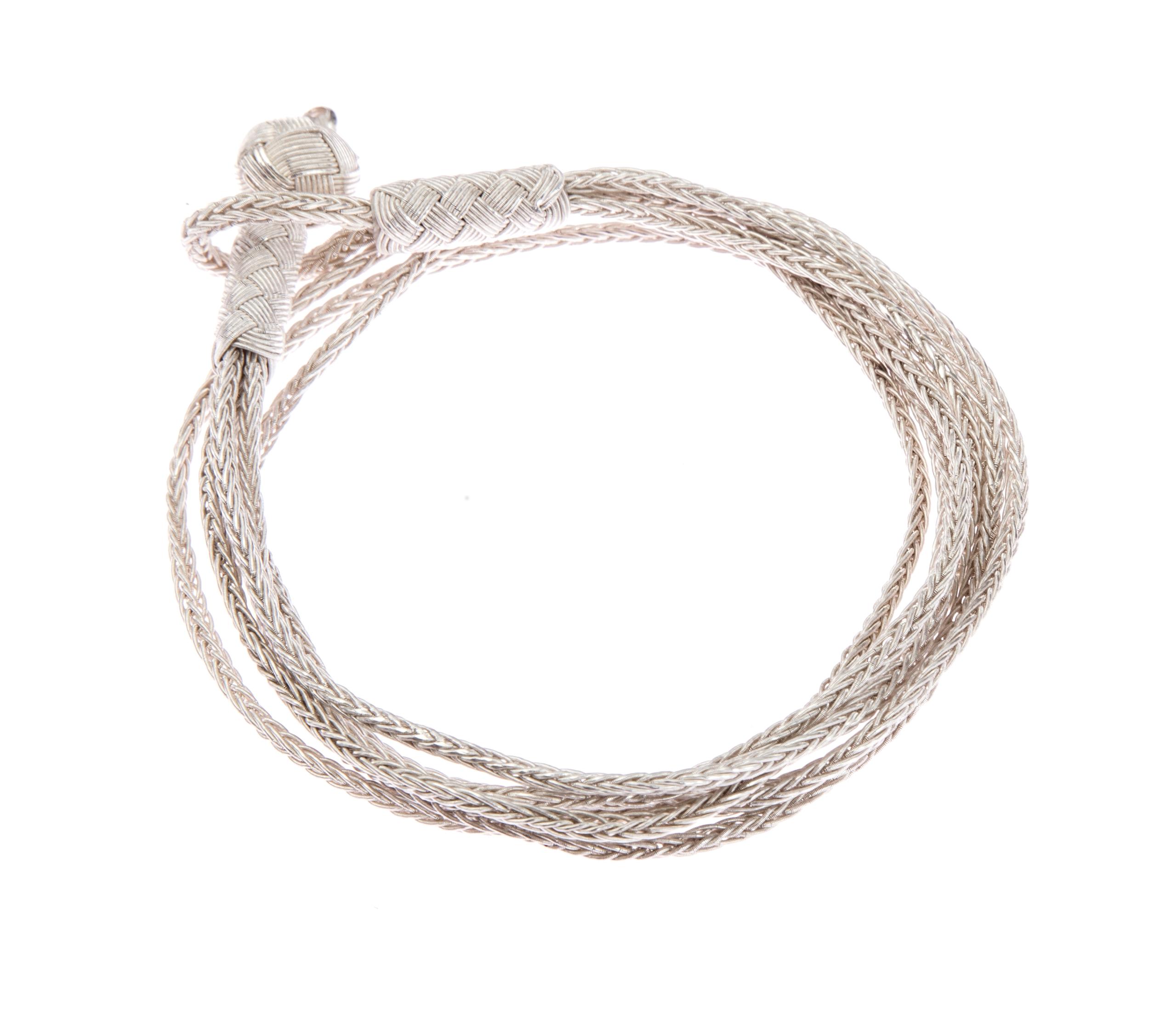 Silver Wrap Bracelet by Seyahan, $100