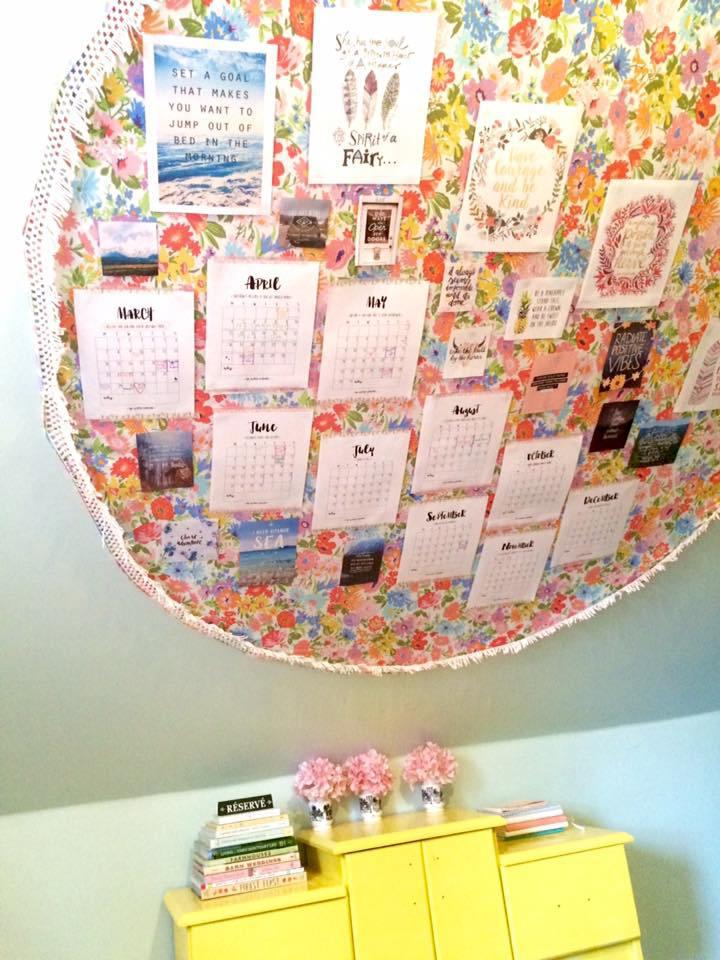 Mon vision board / calendrier de l'année passée. Pas intense la fille t'sais :P