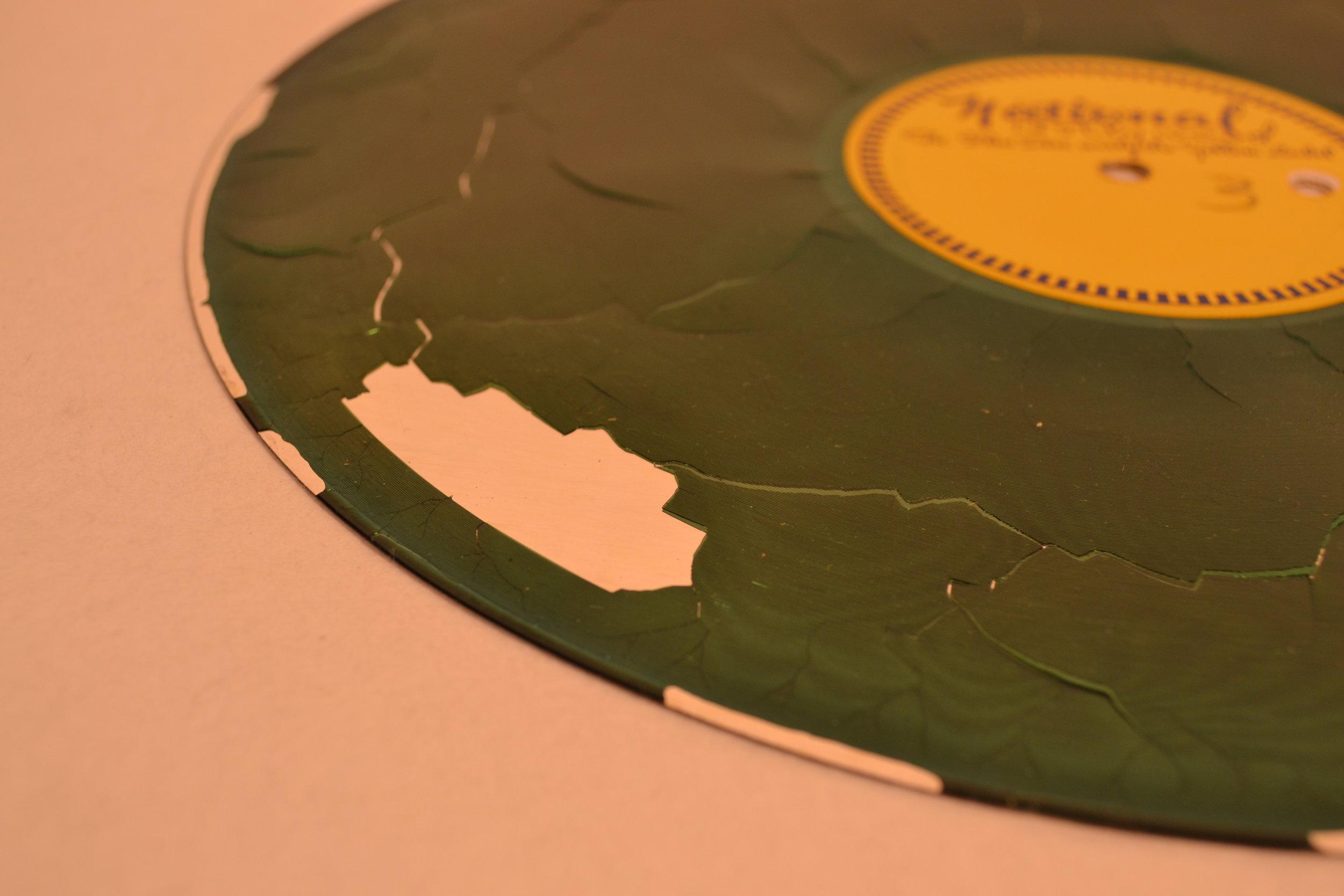 Delaminating Aluminum Lacquer Discs