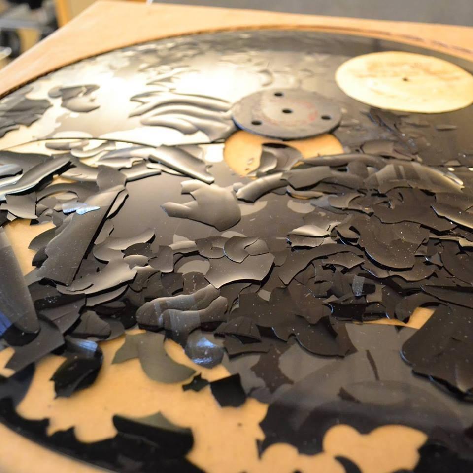 Deaccessioned Delaminated Glass Disc