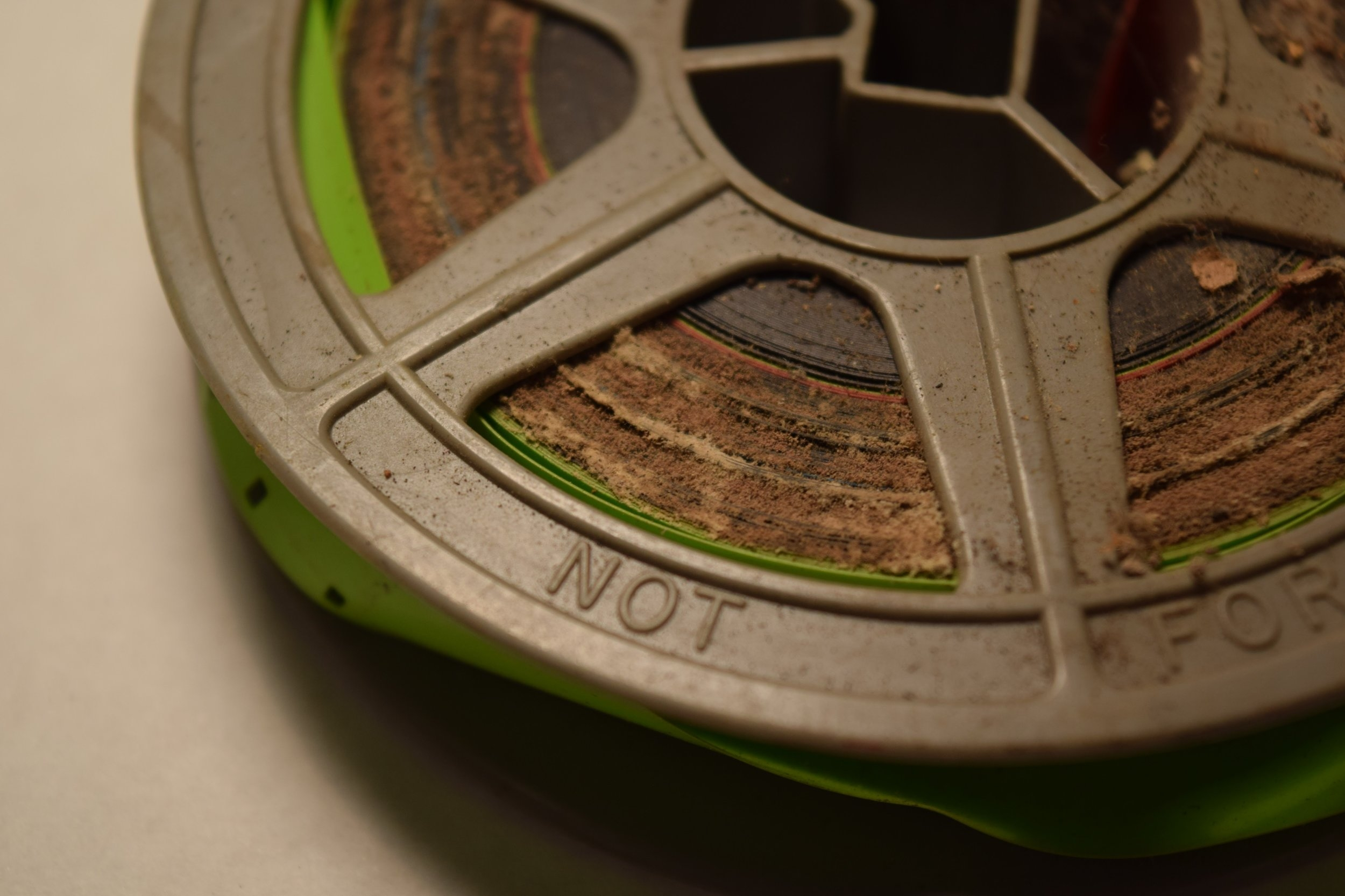 Mold growth on 16mm film