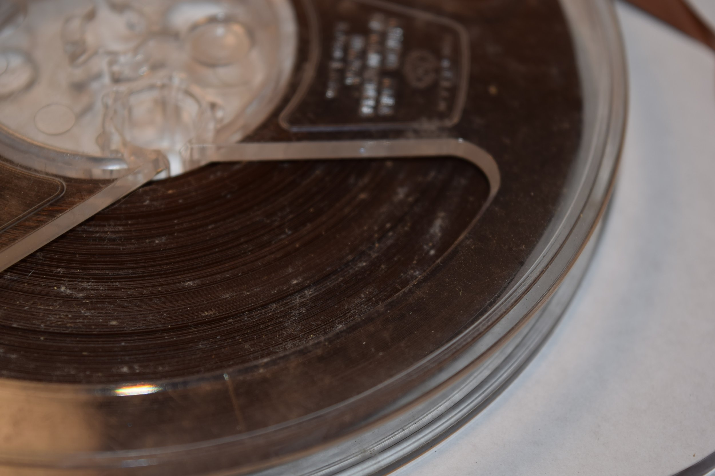 Mold growth on 1/4 inch open reel audiotape