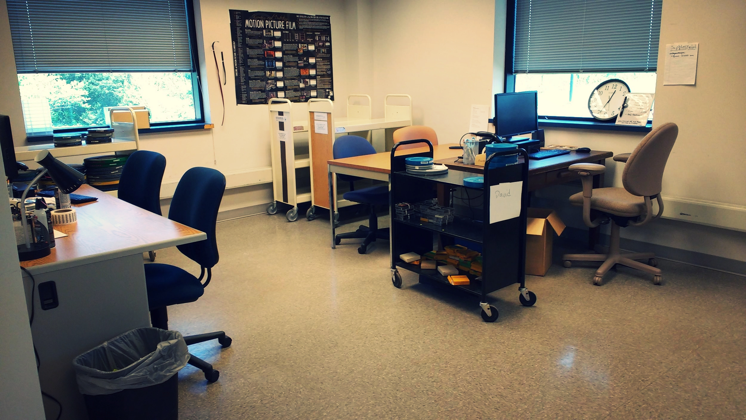 Processing space at the Auxillary Library Facility