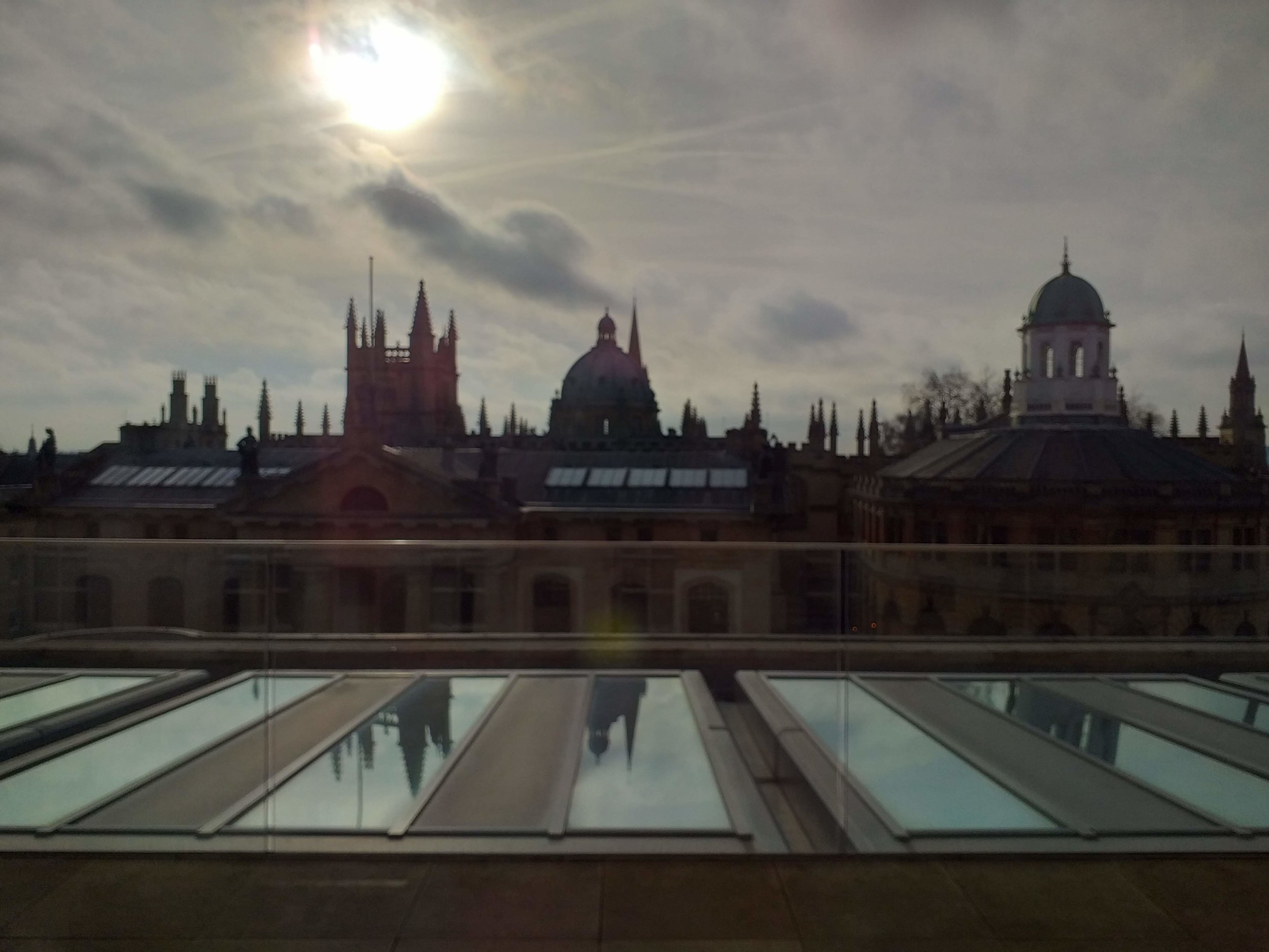 View from Weston Library roof