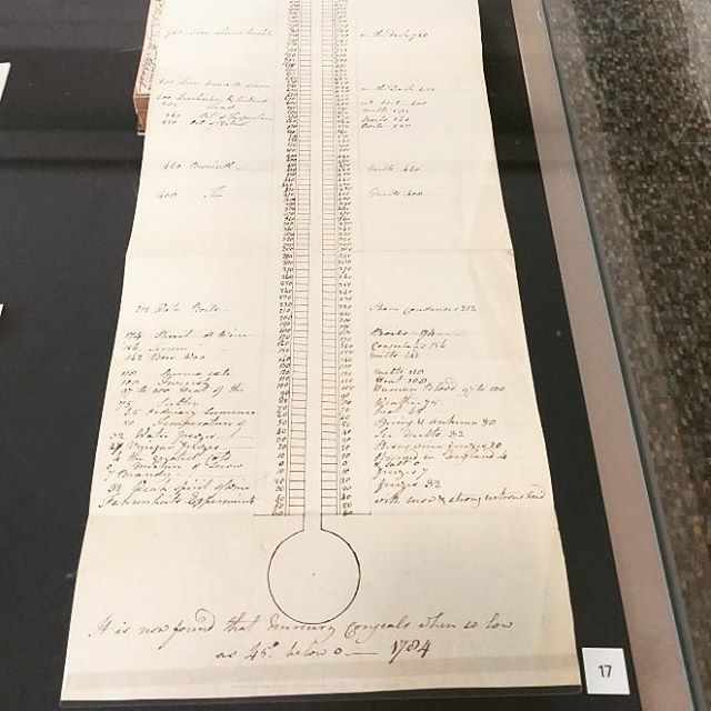 #Thermometer sketch in student notes from lectures by Chemist and popular @edinburghuniversity professor #JosephBlack. His work led to one of the essential tools for #parenting and medicine. #ScottishHistory