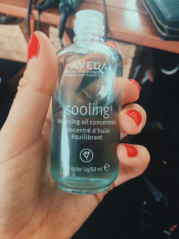 One of my favourite products from Aveda; the 'Cooling Balancing Oil'. As soon as you inhale this beautiful oil you automatically feel relaxed. This baby is a cooling aromaology with certified organic peppermint, blue camomile and naturally derived menthol which refreshes the senses.