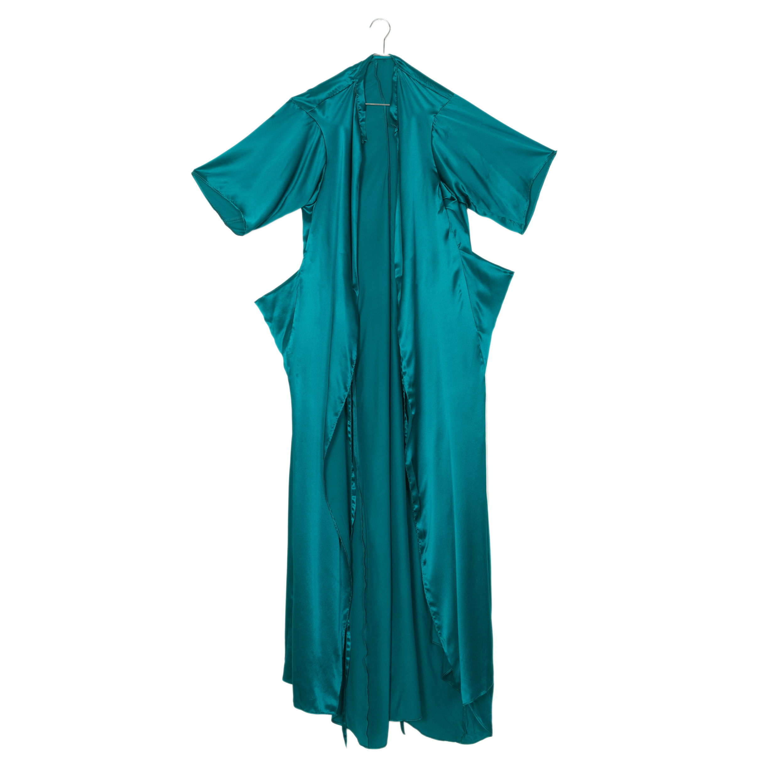 Teal Boxer Wrap Gown<br>$840