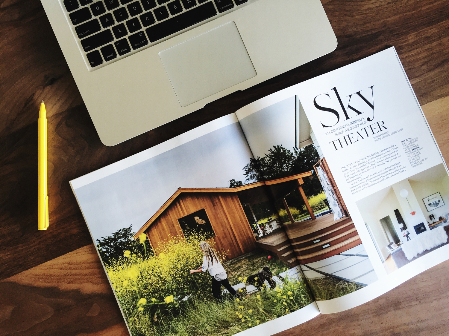 Gustave Carlson Design in the first issue of HABITAT. Photo by  Laure Joliet .