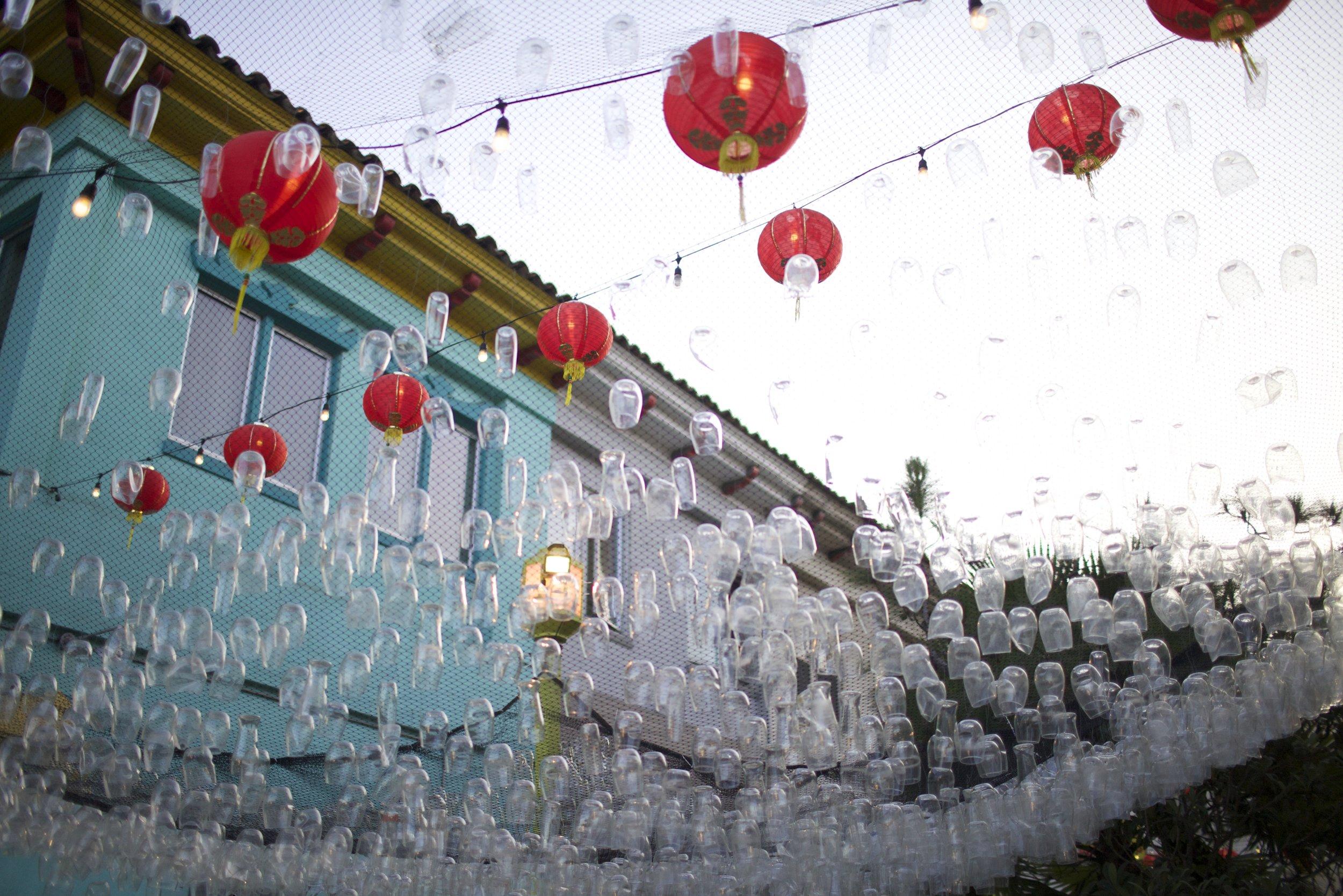 """""""Ganbei"""" Installation at Chinatown Design Night"""