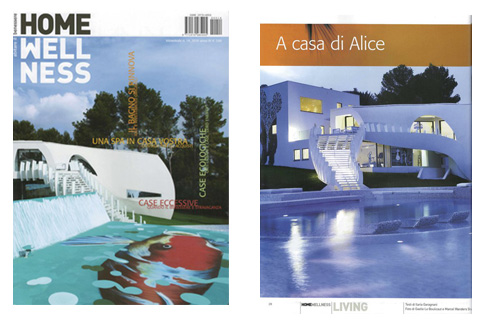 tecARCHITECTURE on the cover of Italian magazine Home Wellness.