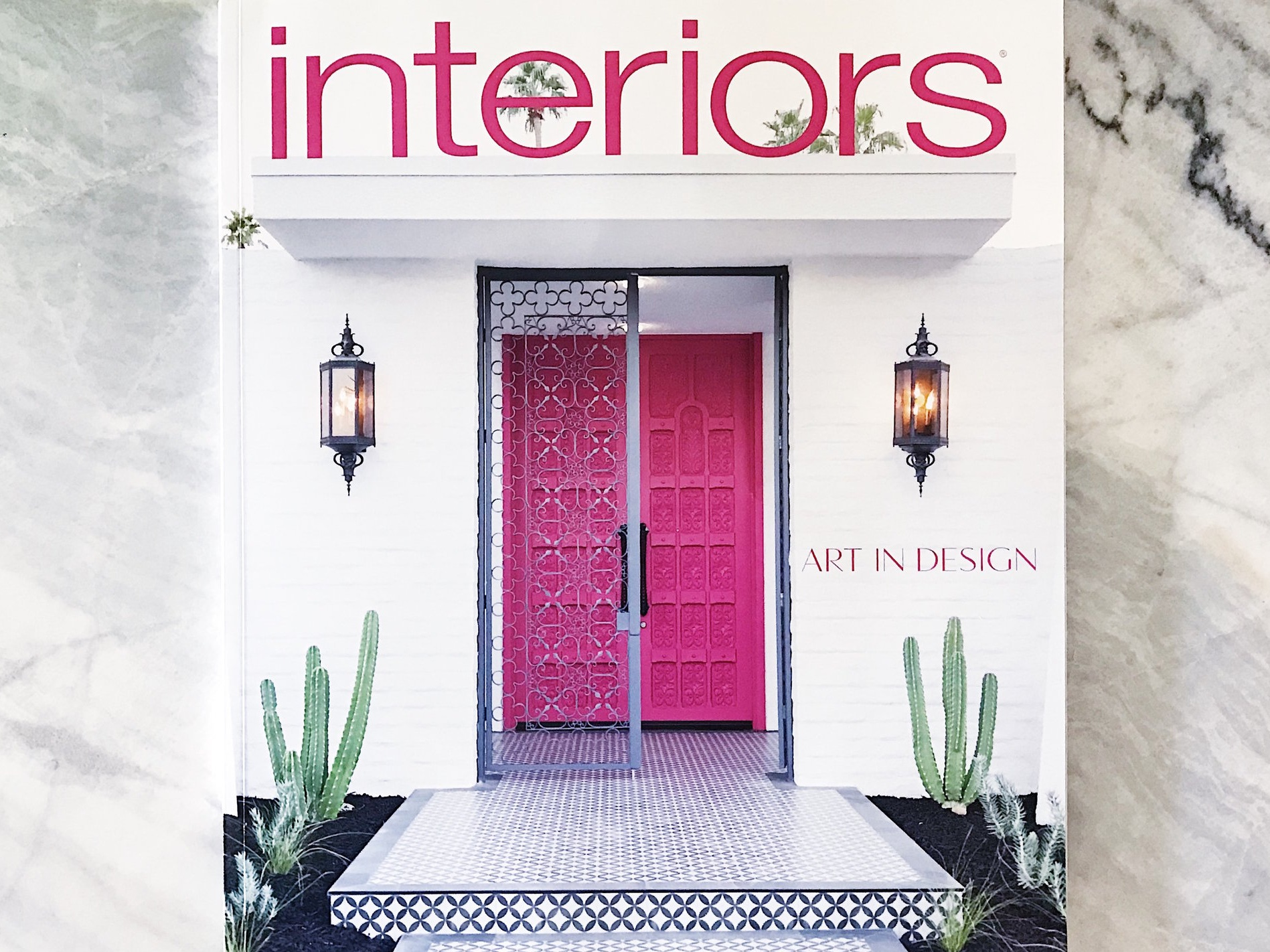 The Moroccan Modern by Thomboy Properties on the cover of  Interiors Magazine , just in time for Modernism Week 2018. Photo by  Fred Moser .