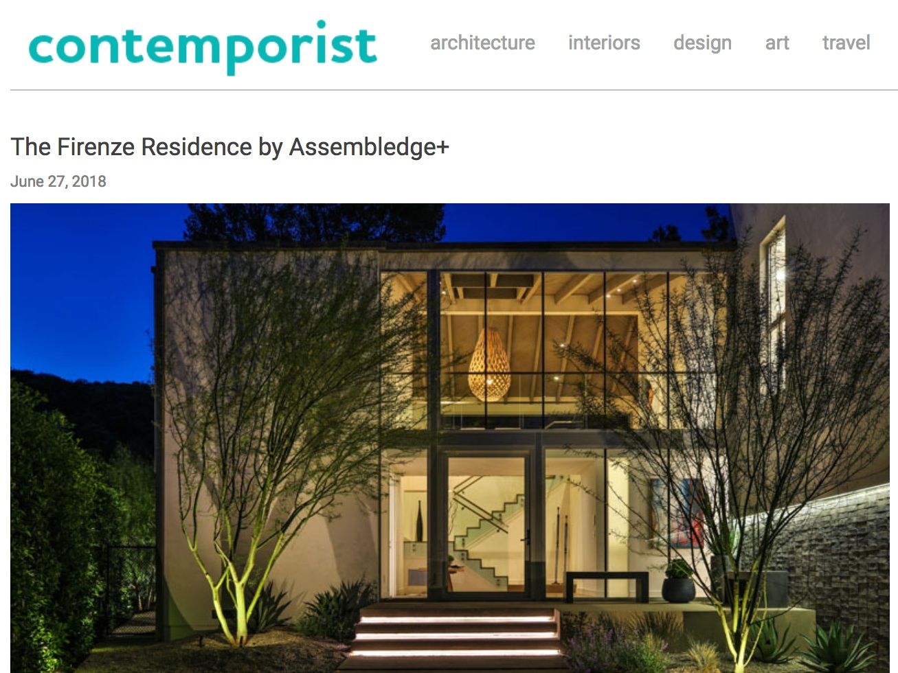 Assembledge+ featured in  Contemporist . Photo by  Simon Berlyn .