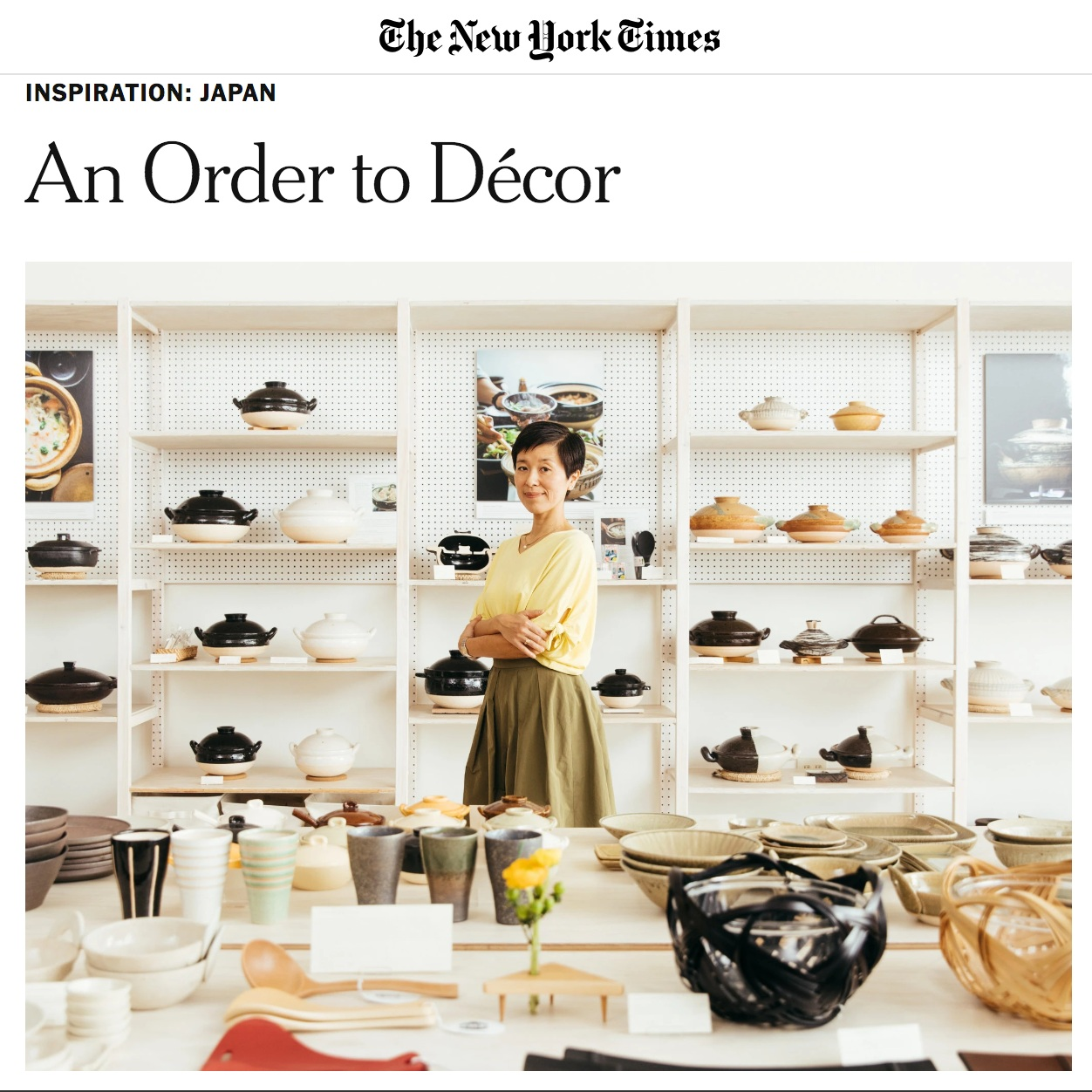 SALT + BONES featured in   The New York Times  .