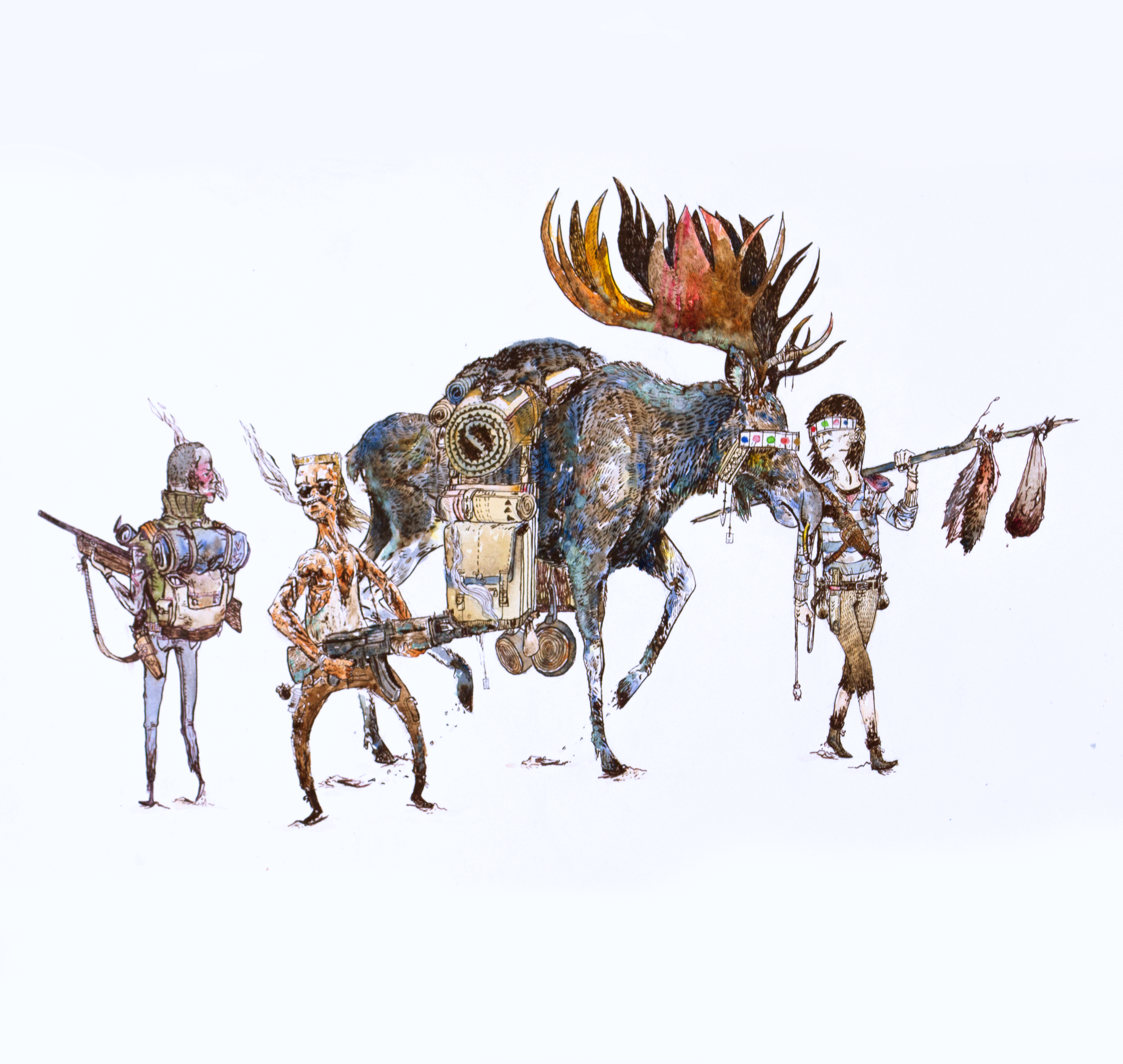 Wastelanders (2011) - Watercolour, Ink