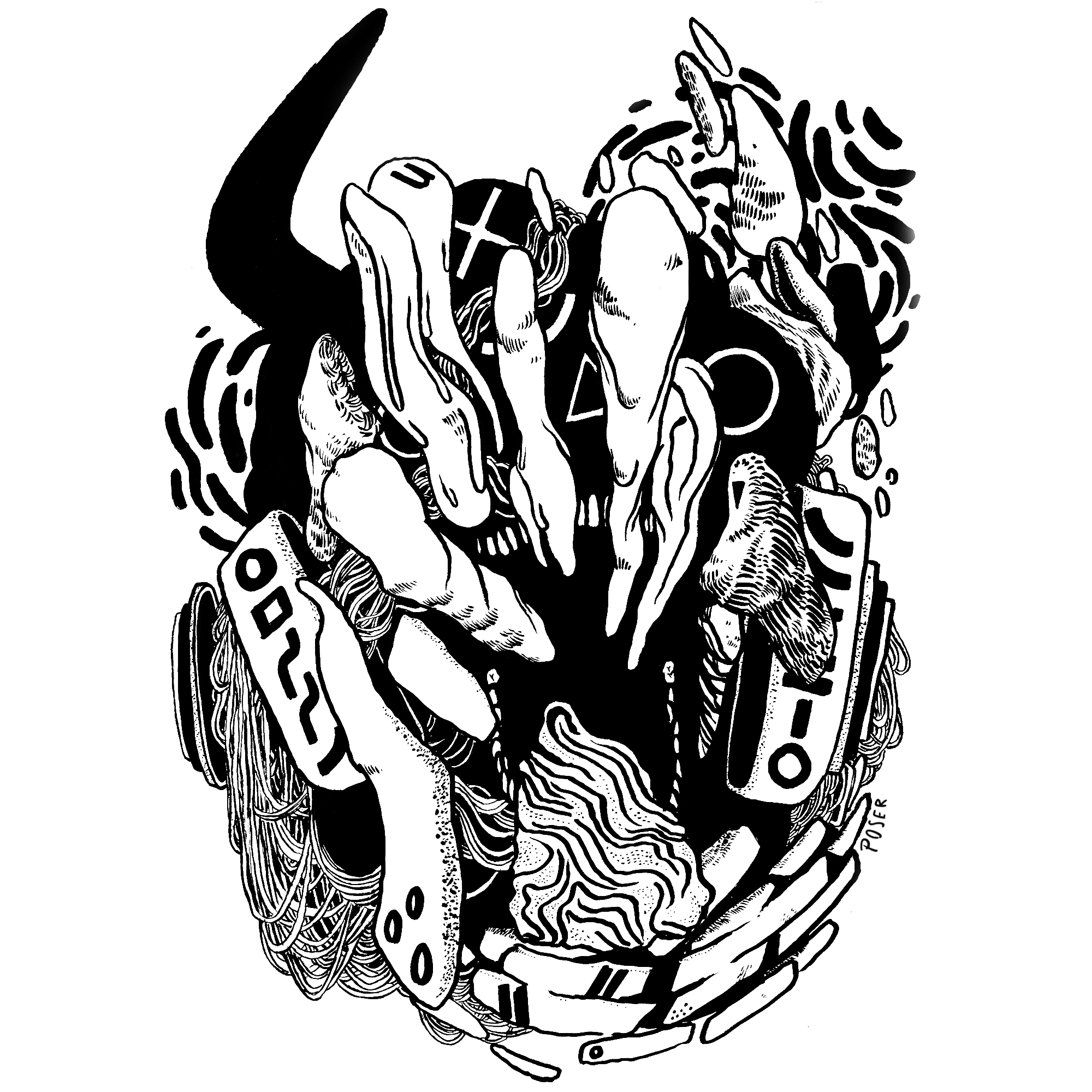 D E M O N 1 (2017) - Ink  (Stickers available in shop!)