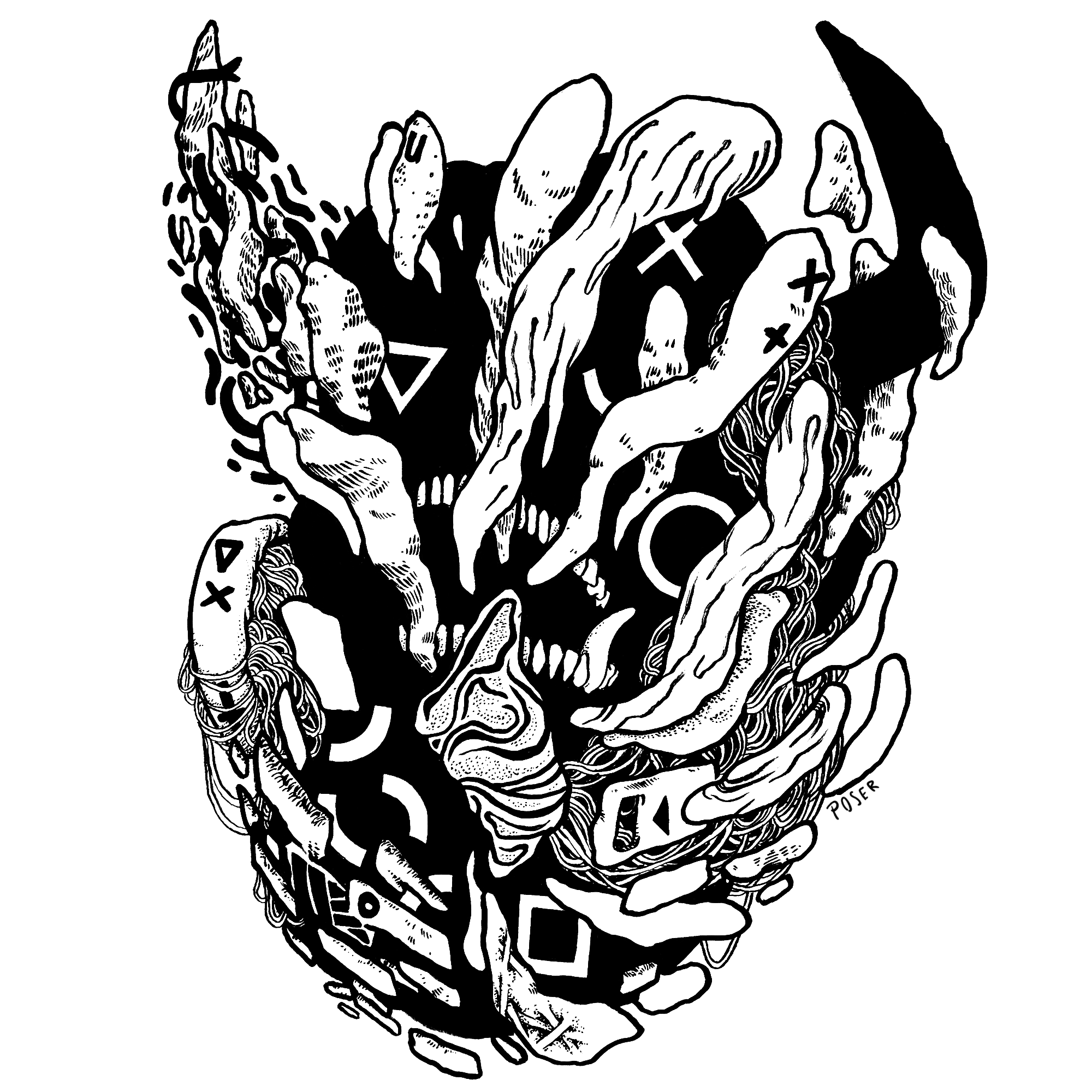 D E M O N 3 (2017) - Ink  (Stickers available in shop!)