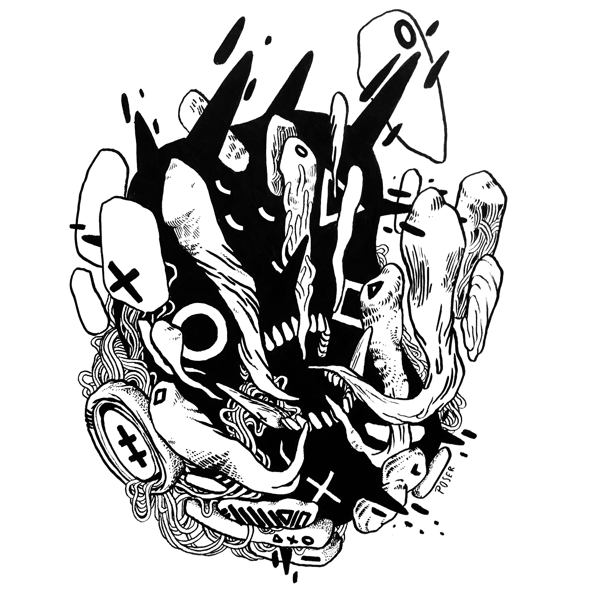 D E M O N 4 (2017) - Ink  (Stickers available in shop!)