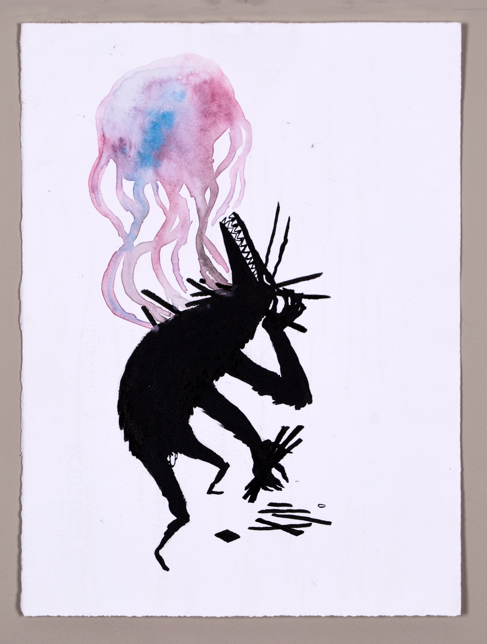 Jelly Wolf (2017) Ink, Watercolour.