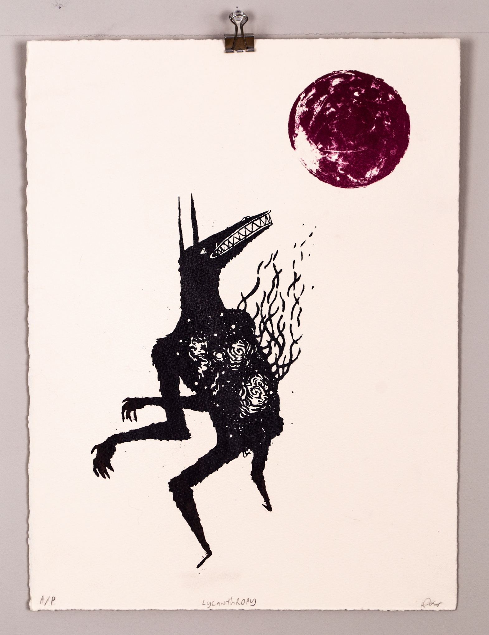 Blood Moon (Lycanthrope) (2011) - Silk Screen, Lithograph