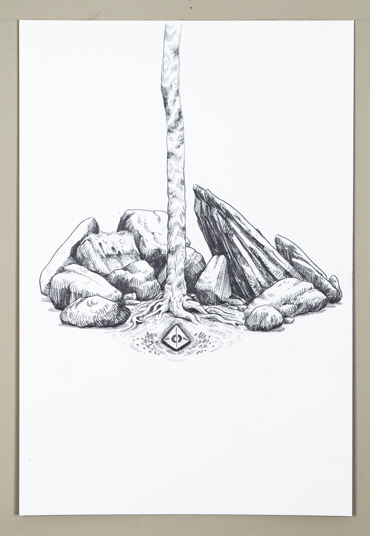 Forest Altar (2018) Pencil.