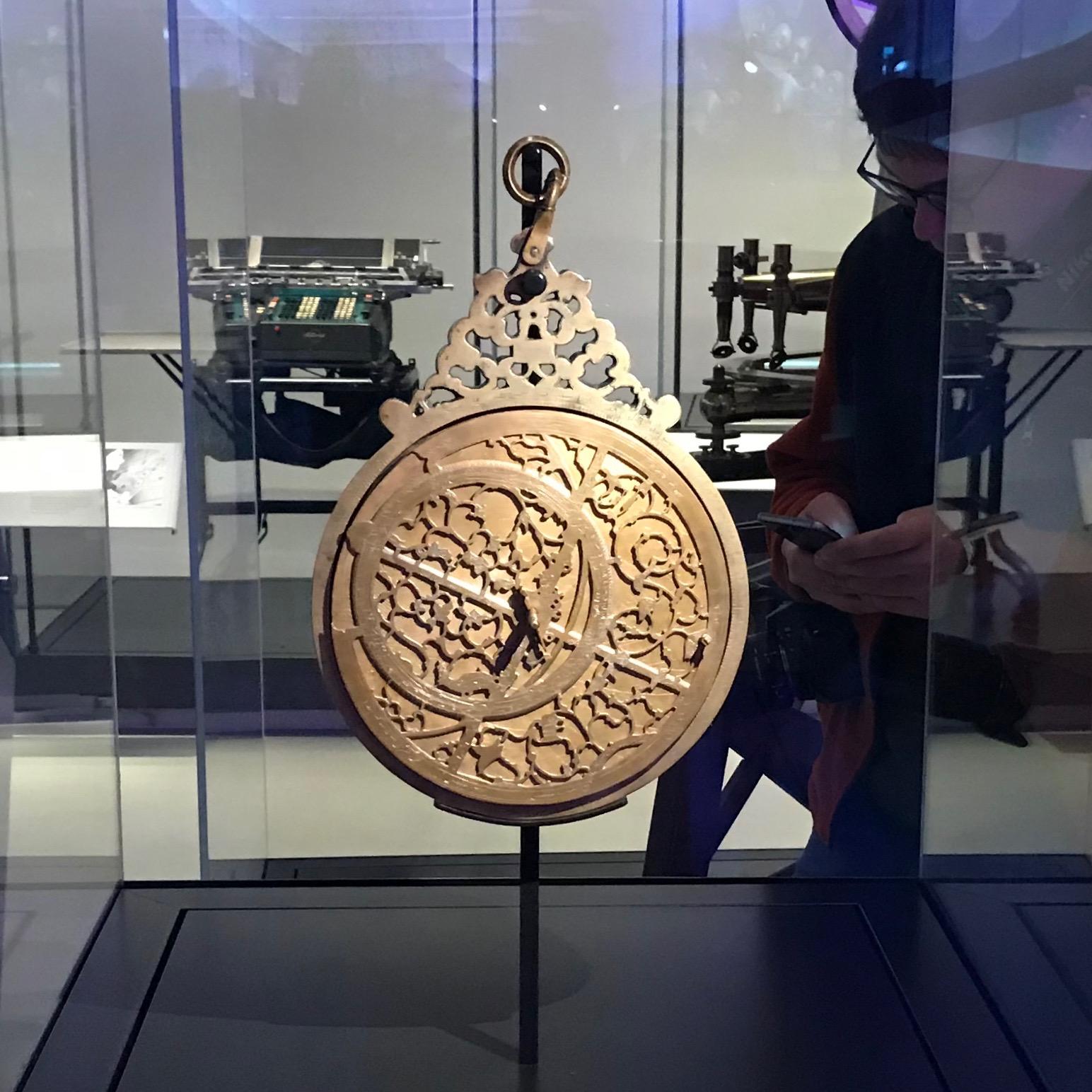 Astrolabe instrument by Jamal Al-din Inb Muqim, Lahore, 1666. Mathematics - Winton Gallery , Science Museum..jpg
