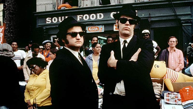 """""""This shot needs a chyron pass. You can't assume that the audience can tell which Blues Brother is which!"""""""