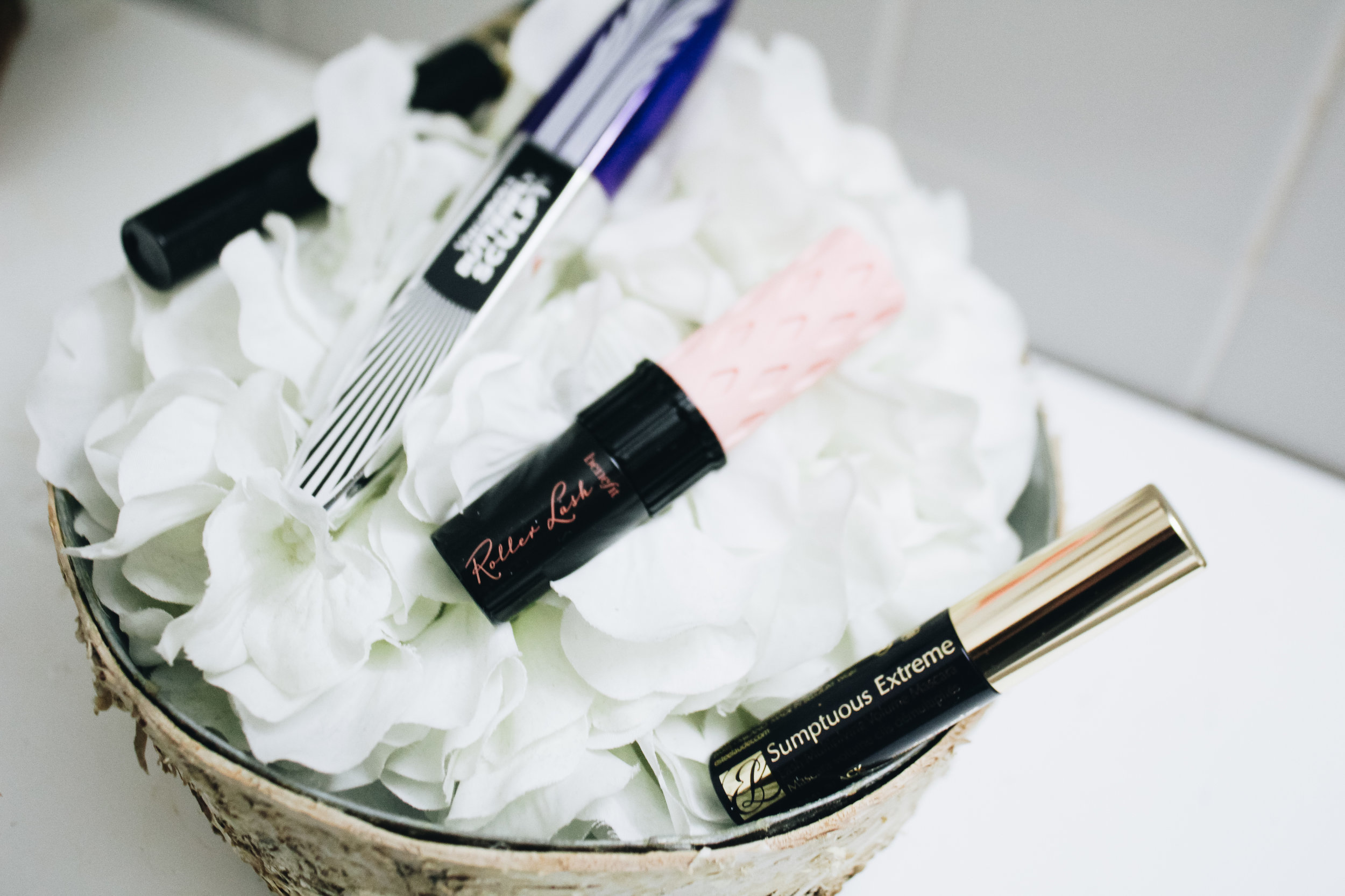 Getting the Canon T6I is a blessing! It is perfect for taking the well-lit flatlay shot! Don't forget to use your surroundings to set up the shot! I took this on the bathroom counter of my sorority house and used the basket of flowers to create a nice contrast!