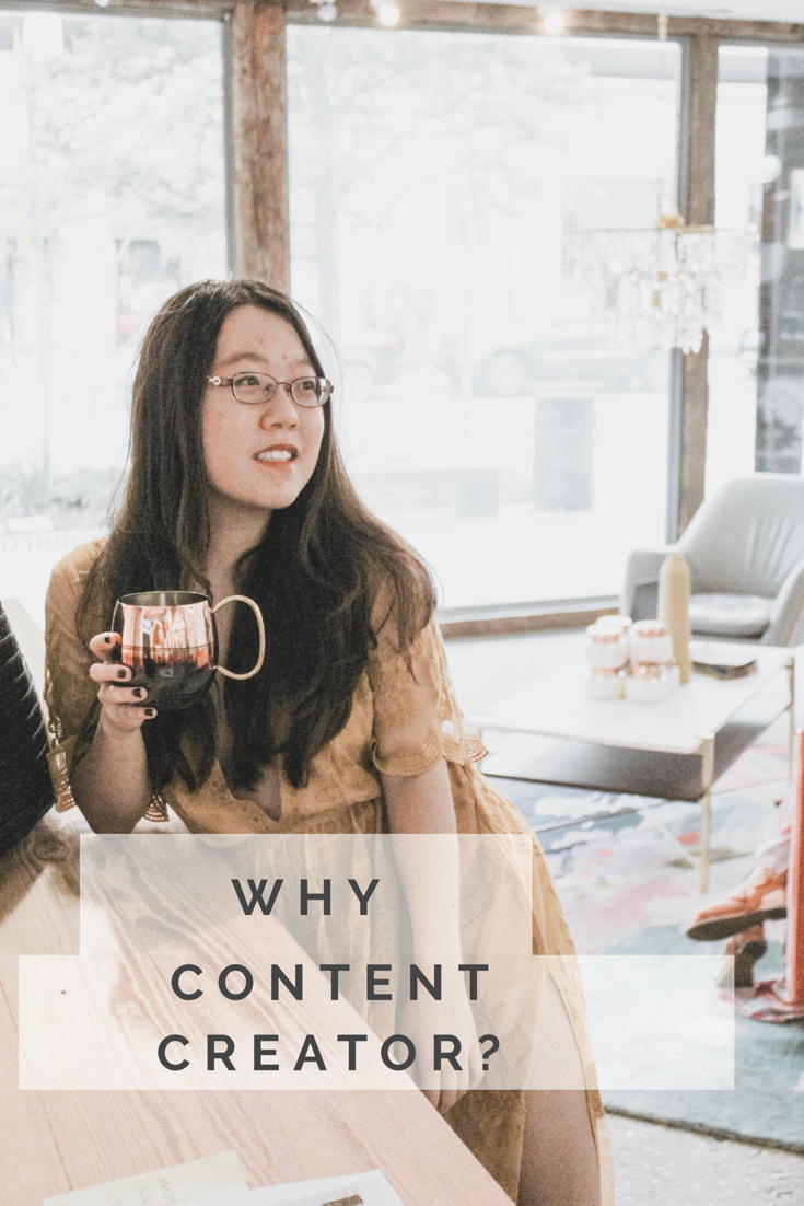 Took this in Anthropologie at Hyde Park! And yes you will definitely hear my thoughts on why I prefer content creator to social media influencer :) Made this with Canva