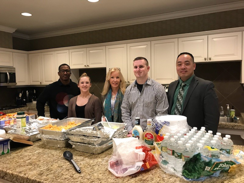 Some members of the Windwalker team served lunch at the Fisher House in Boston.