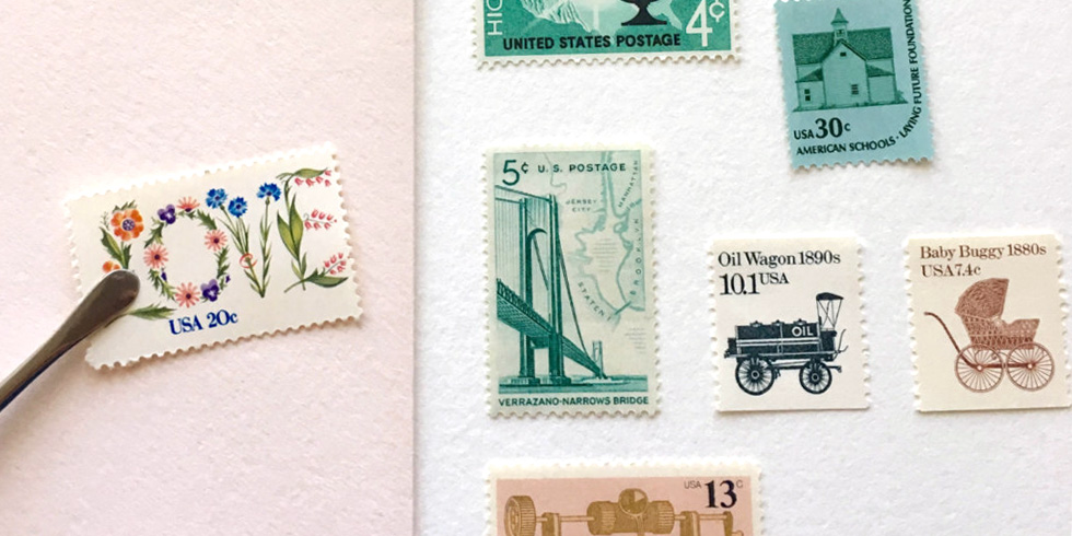 Curate your own set of stamps by  Vintage Postage Shop  on Etsy