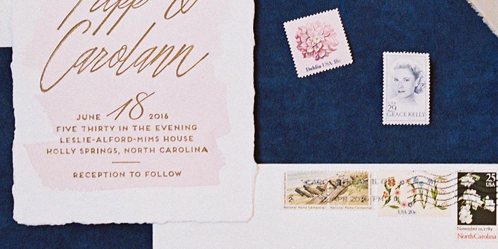 My North Carolina-themed wedding invitations