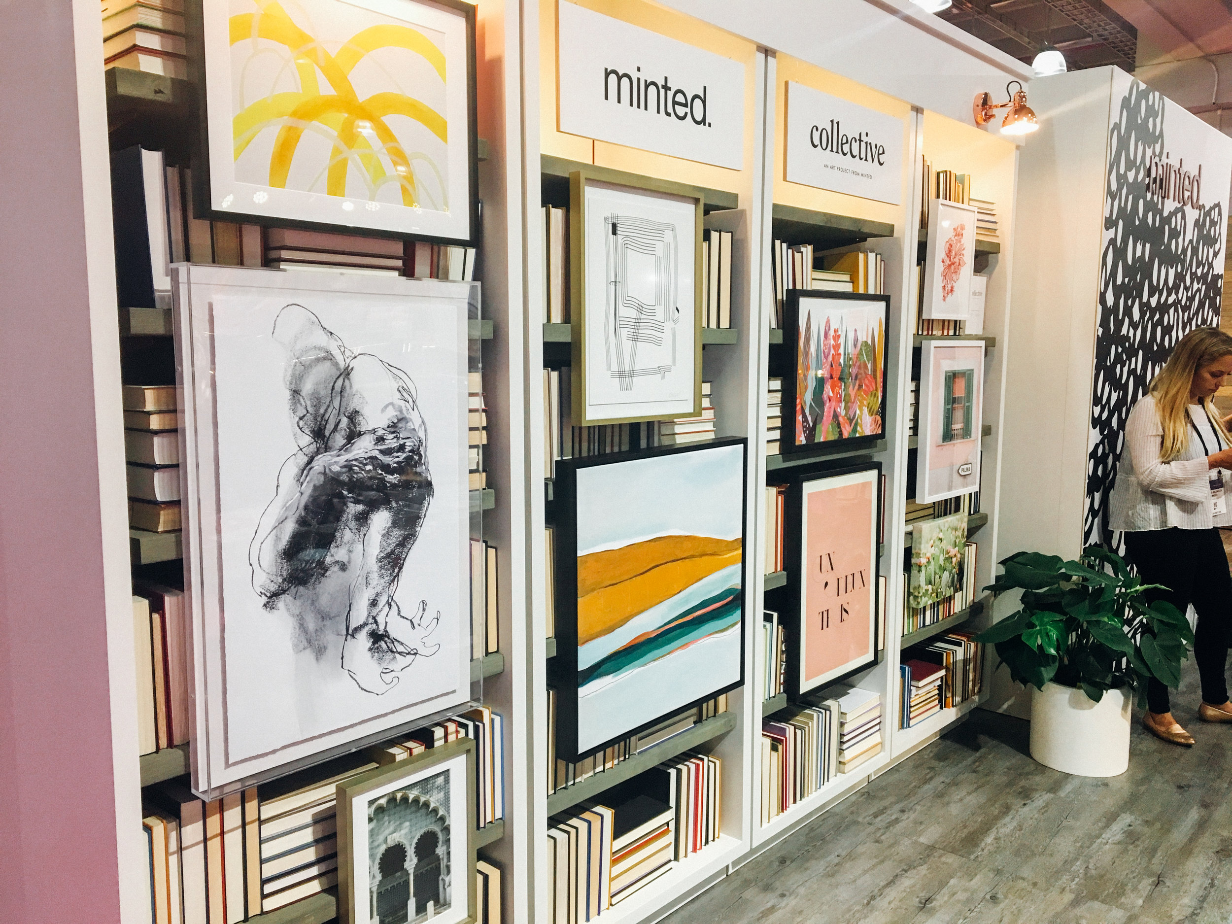 First stop was of course the Minted booth. I got to chat with a Minted wedding merchandiser who was familiar with my work, which is always flattering!