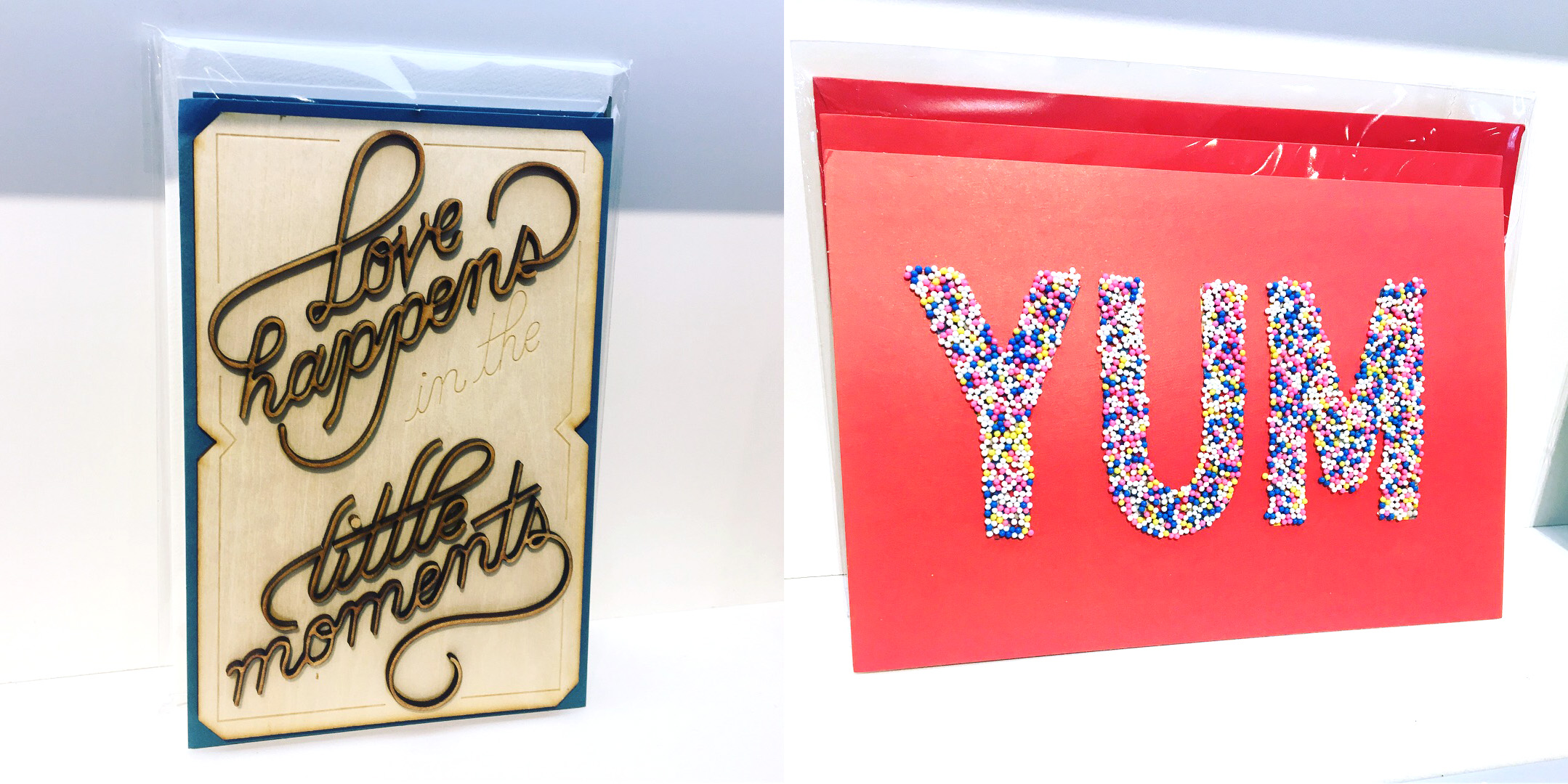 3D textures from Hallmark's signature collection.