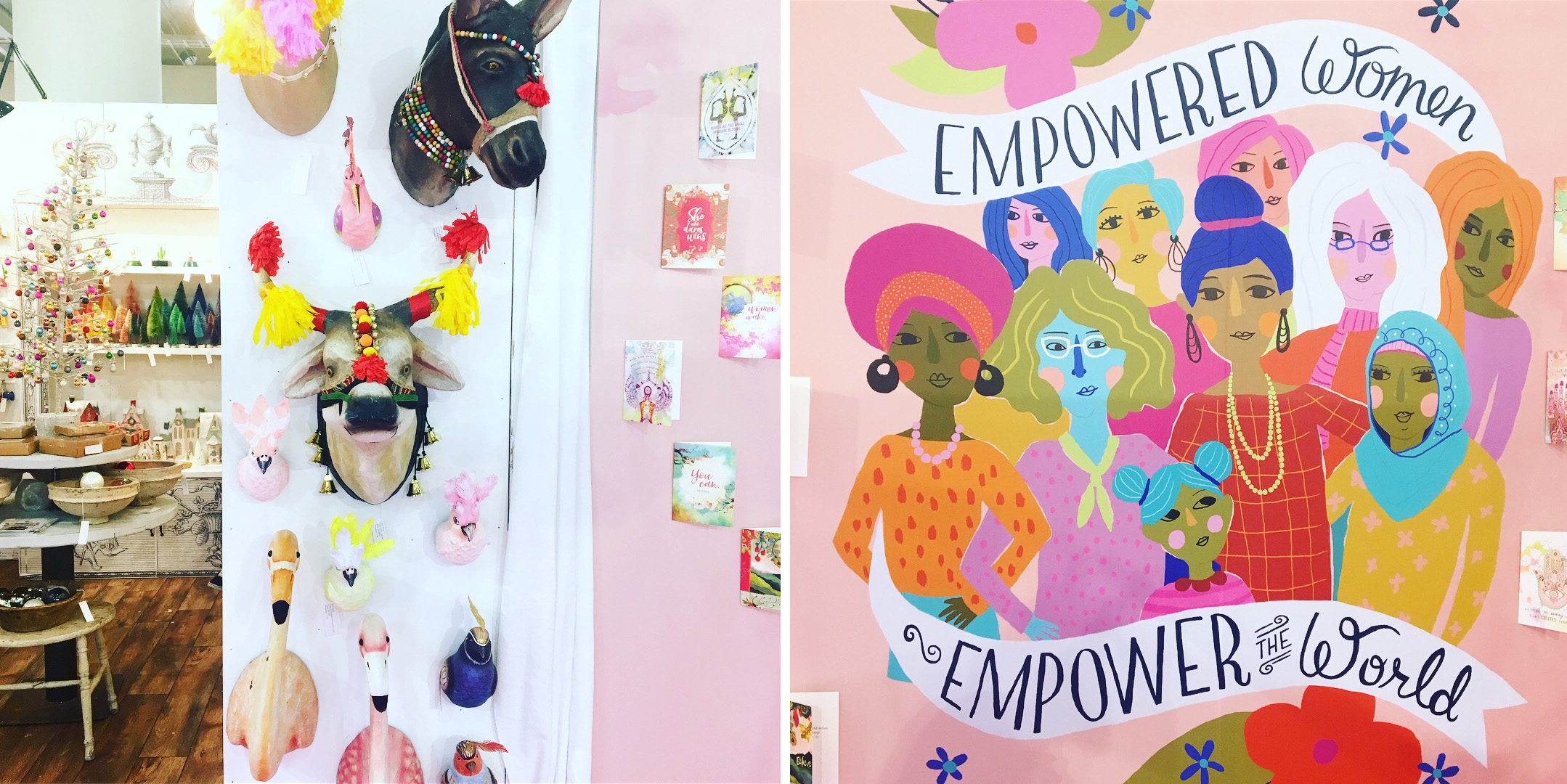 Booth decor from the small retailers  might  have given me a little home design inspo!