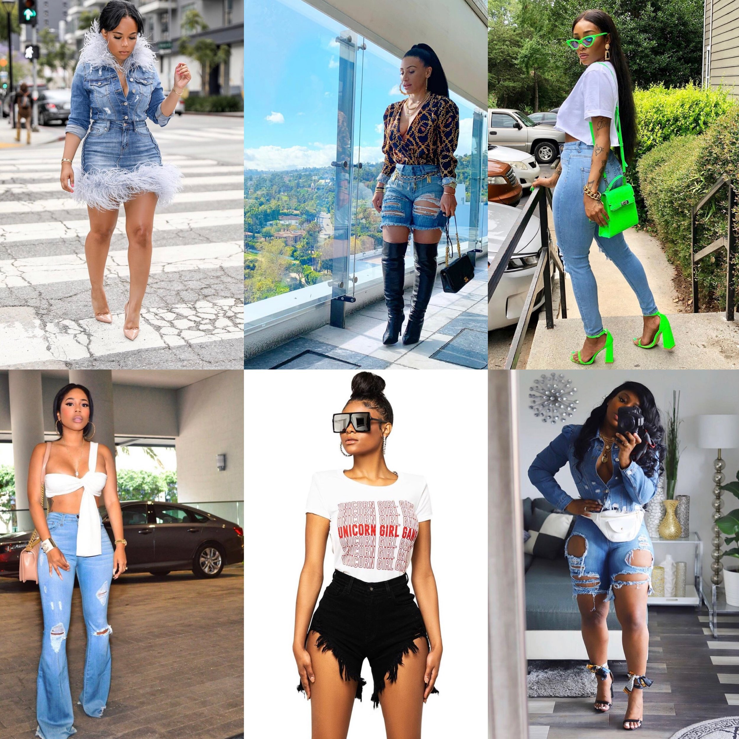 DISTRESSED IS THE BEST -If wearing denim, don't stress; distress. Thick thighs save lives, and how do we reward them? By showing them off of course! -