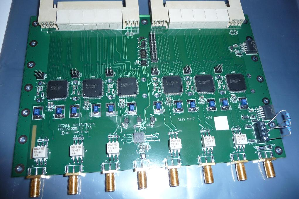 ADC6X1000-12 - Six channels of A/D conversion, 1000MSPS, 12-bits, (6 ea ADS5400), occupies two ZDOK connectors.schematicPrice: contact us Qty in stock: 0