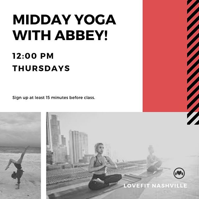 Yoga🧘‍♀️ flow at NOON!  Sign up online | Booking button ⬆️