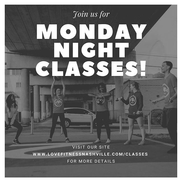 6pm - SWEAT SESH 7pm - HATHA FLOW  Follow your instructors! @thelovefitness_girl @laurriches