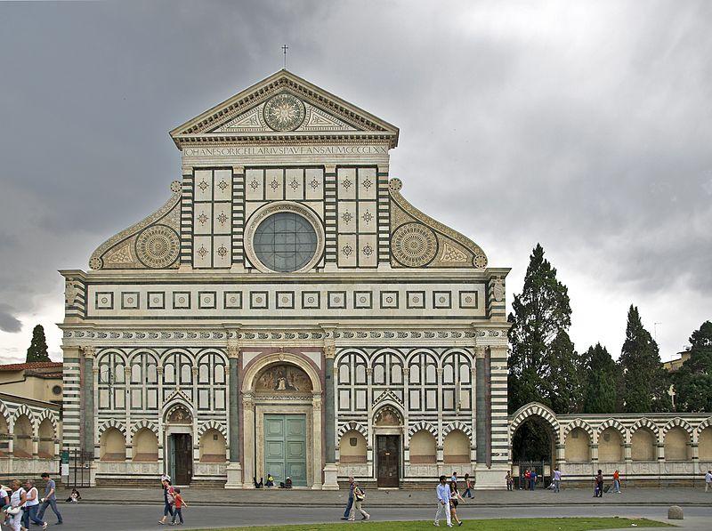The Santa Maria Novella in Florence, public domain
